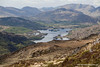 Upper Lake and MacGillycuddy's Reeks (view from Torc Mountain), Killarney National Park, Killarney, Kerry, Ireland.