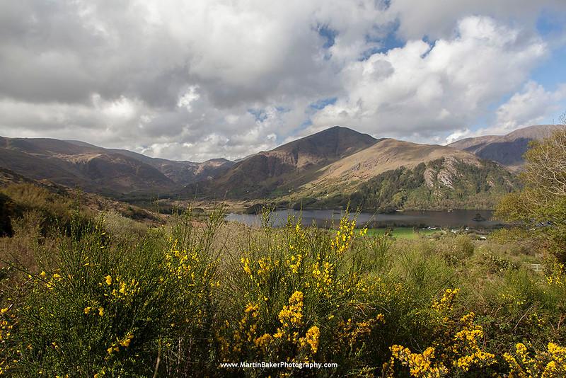 Glanmore Lake and Healy Pass, Beara Peninsula, Kerry, Ireland.