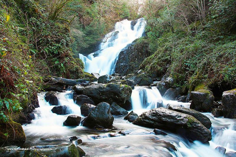 Torc Waterfall, Killarney National Park, Killarney, Iveragh Peninsula, Kerry, Ireland.