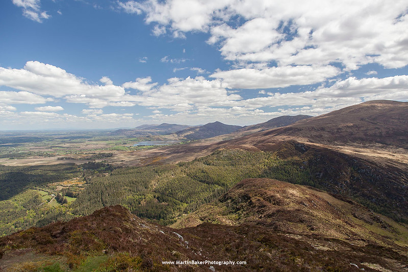 Mangerton Mountain and Lough Guitane (view from Torc Mountain), Killarney National Park, Killarney, Kerry, Ireland.