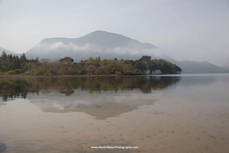 Torc Mountain, Lough Leane, Killarney National Park, Killarney, Kerry, Ireland.