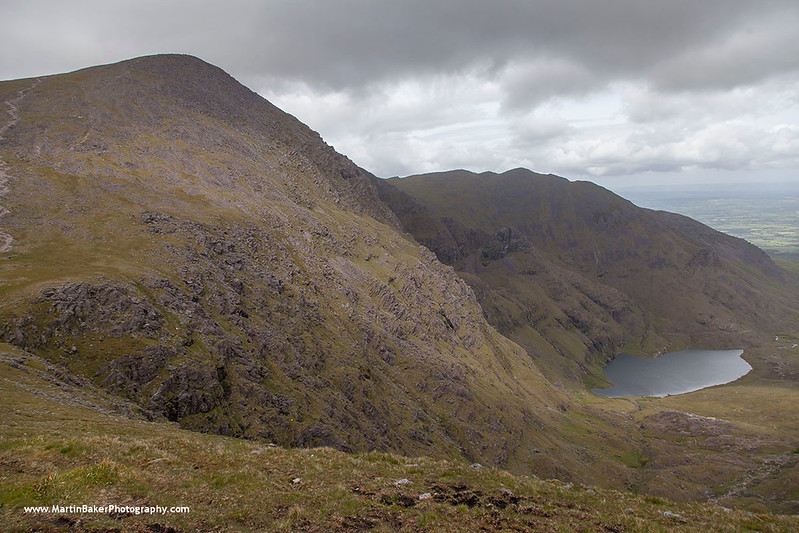 Carrauntoohil and Hag's Glen, MacGillycuddy's Reeks, Kerry, Ireland.