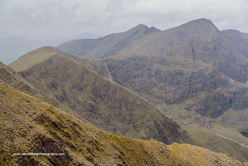 Carrauntoohil and the Devil's Ladder, MacGillycuddy's Reeks, Kerry, Ireland.