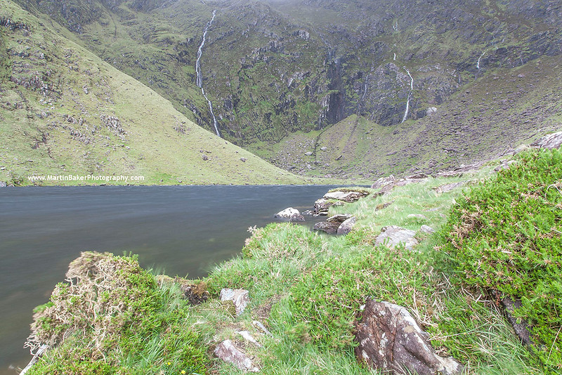 Loch an Mhónáin, Connor Pass, Dingle Peninsula, Kerry, Ireland.