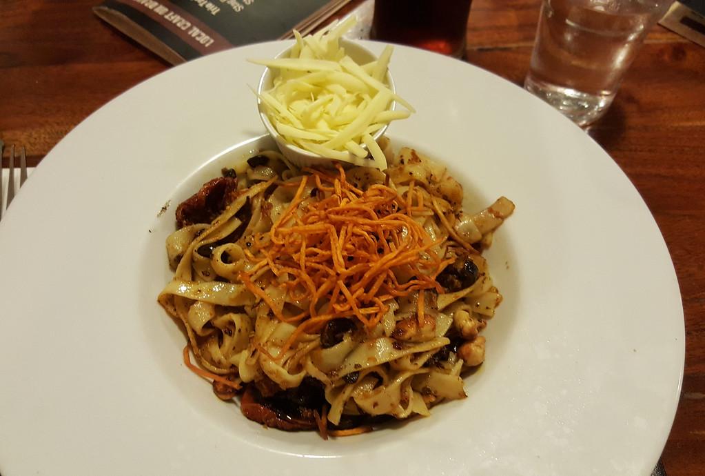 Red pesto tagliatelle at the Porterhouse Gastropub