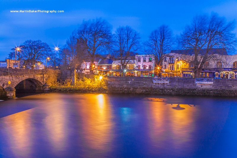 George's Quay and Abbey River, Limerick, Ireland.