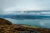 Carlingford Lough and Mourne Mountains, view from Slieve Foye, Carlingford, Cooley Peninsula, Louth, Ireland.