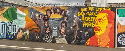 Wall murals-Irish Catholic neighborhood