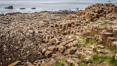 Giant's Causeway, 40,000 interlocking basalt columns following volcanic eruption