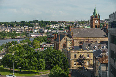 View of Derry and River Foyle from hotel