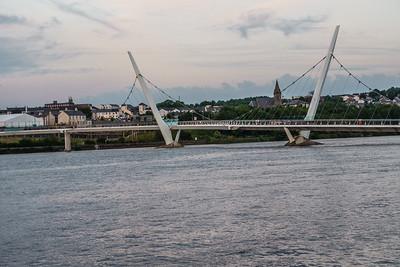 Peace Bridge across the River Foyle, 2011
