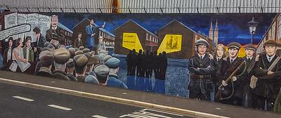 Wall murals-Irish Catholic/Nationalist neighborhood