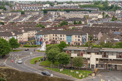 View of Bogside  from City Walls, scene of Bloody Sunday 1-30-72.
