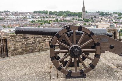 City Walls, cannon and bastion overlooking Bogside