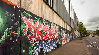 Peace Wall murals still separate neighborhoods  w/gates, some  locked at night