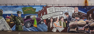Socialist Wall mural-Irish Catholic /Nationalist neighborhood