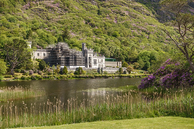 Kylemore Abbey built as a private family castle in 1871. Purchased 1920 by Benedictine Nuns who fled Belgium and offered a. Catholic girls school till 2010.