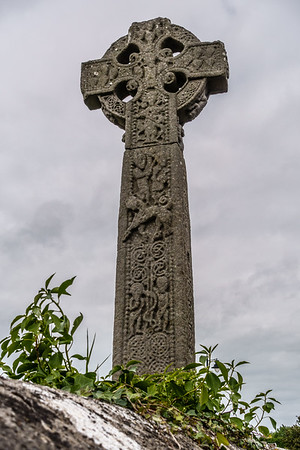 Celtic High Cross in Drumcliff cemetery