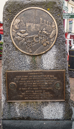 Titanic Memorial-Cobh was last port of call on ship's maiden voyage, April, 11, 1912.