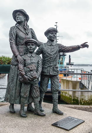 Annie Moore Monument - She departed Cobh 1-1-1892, age 15. First immigrant to pass through Ellis Island facility.