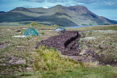 An Irish bog and peat removal