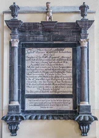 Memorial to Jane Eyre in Collegiate Church of St. Nicholas, Anglican,