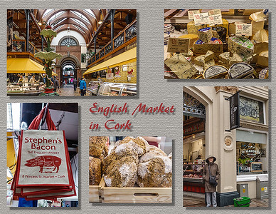 English Market on rainy day in Cork