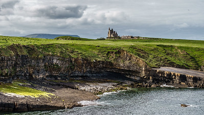 Classiebawn Castle , 1841, on Mullaghmore Head. Lord Mountbatten died here when  IRA blew up his yacht in 1979. A surfing capital.