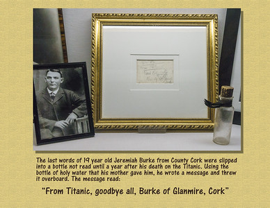 Cobh Heritage Center-Message thrown overboard as Titanic sunk