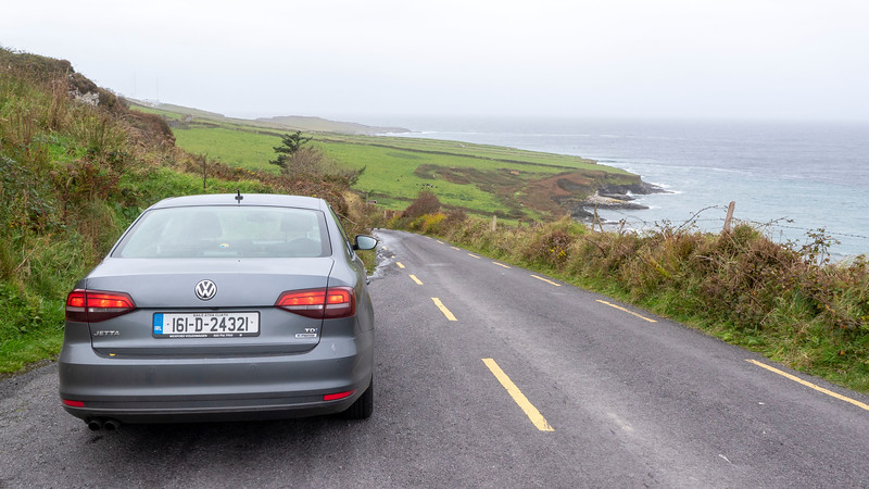 Rental car on the Ring of Kerry