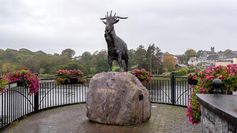 King Puck sculpture in Killorglin Ireland