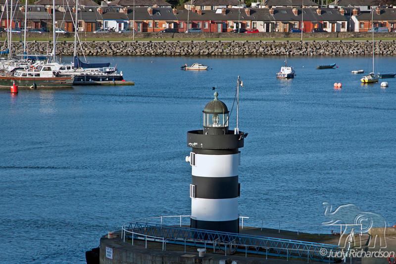 Entrance to Dublin, Ireland via ship