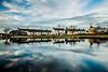 Ballynacargy Harbour and Royal Canal, Ballynacargy, Westmeath, Ireland.