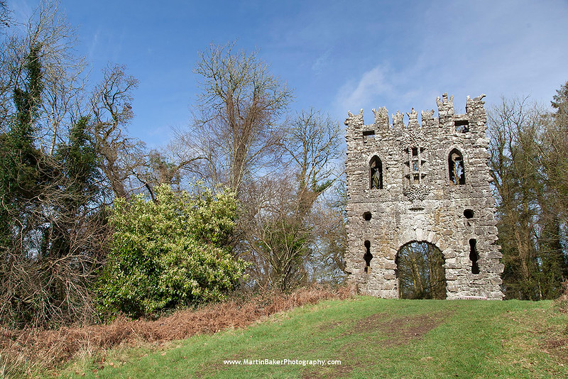 The Gothic Arch, Belvedere House and Gardens, Mullingar, Westmeath, Ireland.