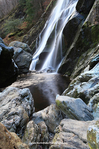 Powerscourt Waterfall, Wicklow, Ireland.