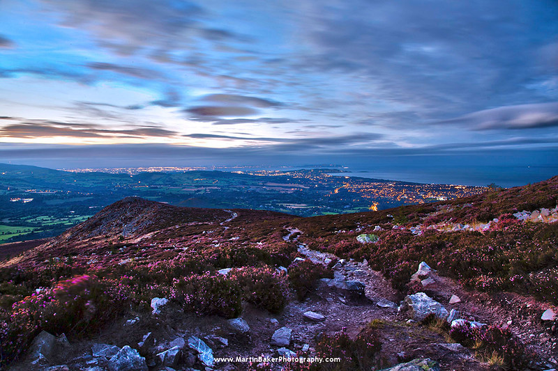 Dublin, View From Little Sugar Loaf, Wicklow, Ireland.