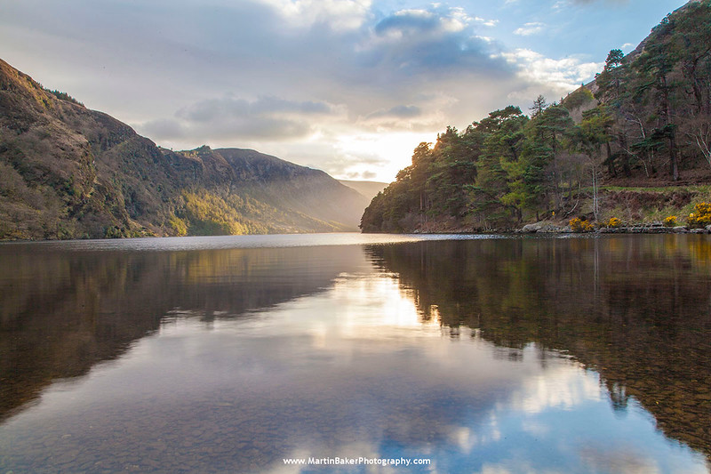 Upper Lake, Glendalough, Wicklow Mountains National Park, Wicklow, Ireland.