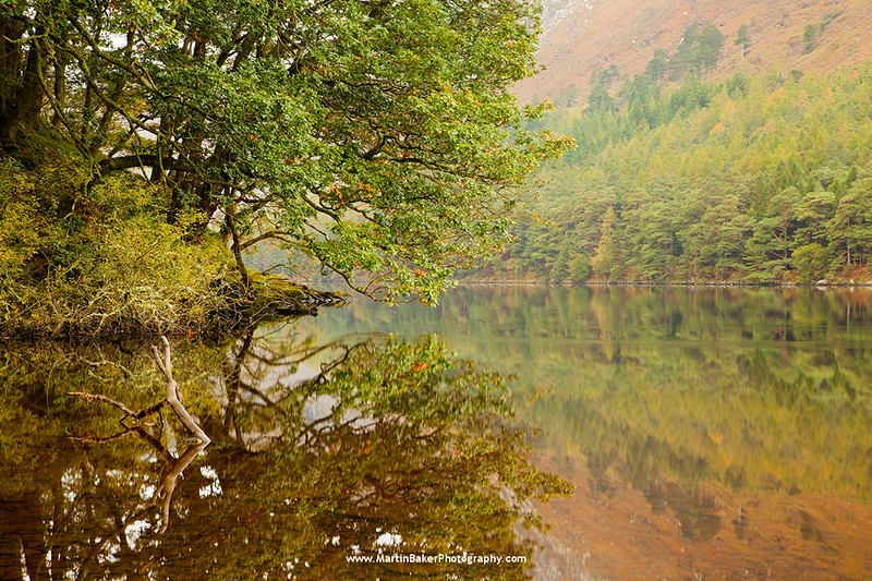 Lower Lake, Glendalough, Wicklow Mountains National Park, Wicklow, Ireland.