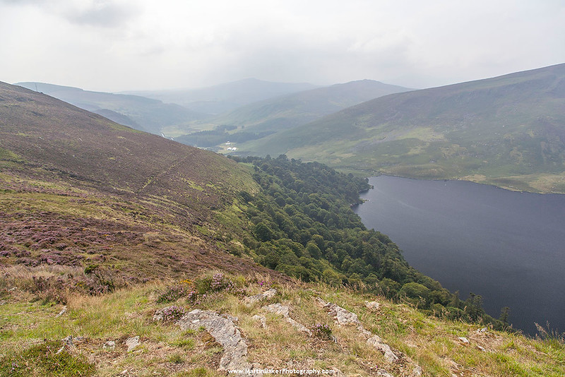 Lough Tay and Cloghoge River Valley, Wicklow, Ireland.