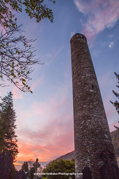 Round Tower, Monastic City, Glendalough, Wicklow, Ireland.