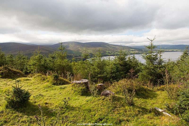 Black Hill, Moanbane Mountain and Pollaphuca Reservoir , Blessington, Wicklow, Ireland.