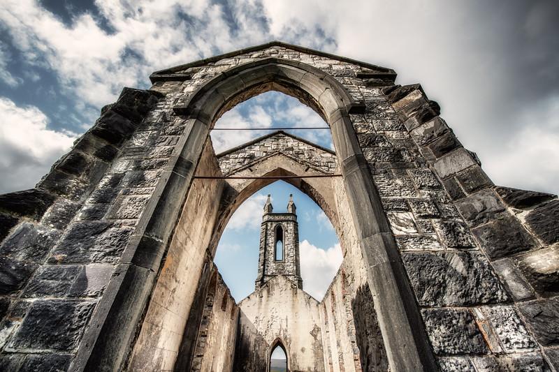 Dunlewy abandoned church