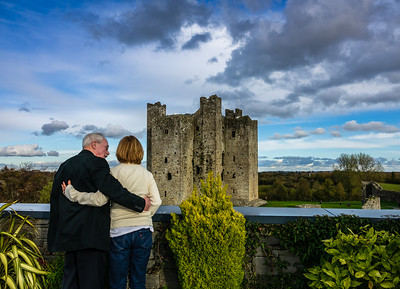 Patrick and Jeannette.  Trim Castle, Co. Meath, Ireland.