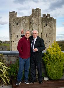 Jim and Patrick goofing around.  Trim Castle, Co. Meath, Ireland
