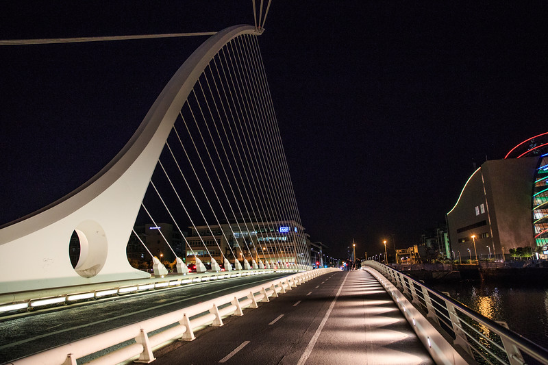 Walk after dinner in Dublin.  It felt pretty safe there. The Samuel Beckett Bridge is a symbol of Modern Ireland.
