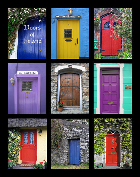 """Doors of Ireland"" collage - 16x20"