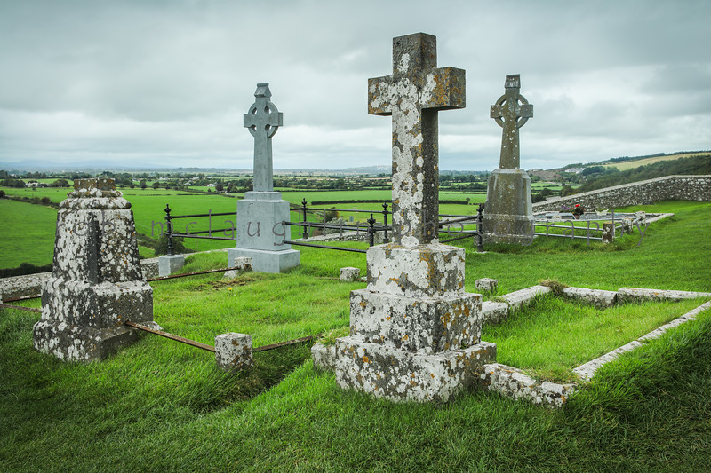 Celtic Crosses, Rock of Cashel cemetary, Ireland