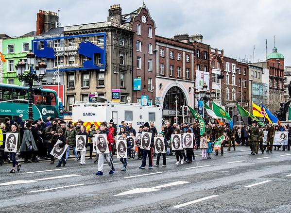 A Centennial Parade on O'Connell Bridge