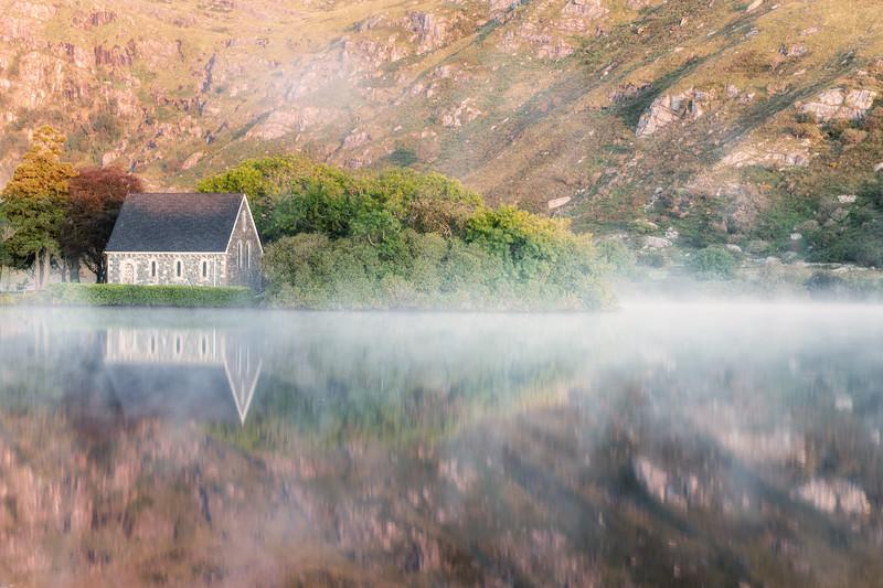 Morning light and mist over Gouganebarra
