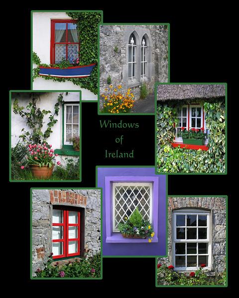 """Windows of Ireland"" collage - 16x20"